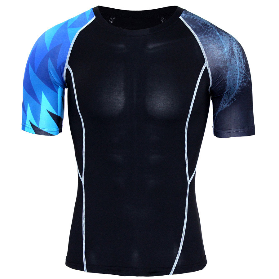 T Shirt Men Polyester Material O Neck Collar Print Pattern Design
