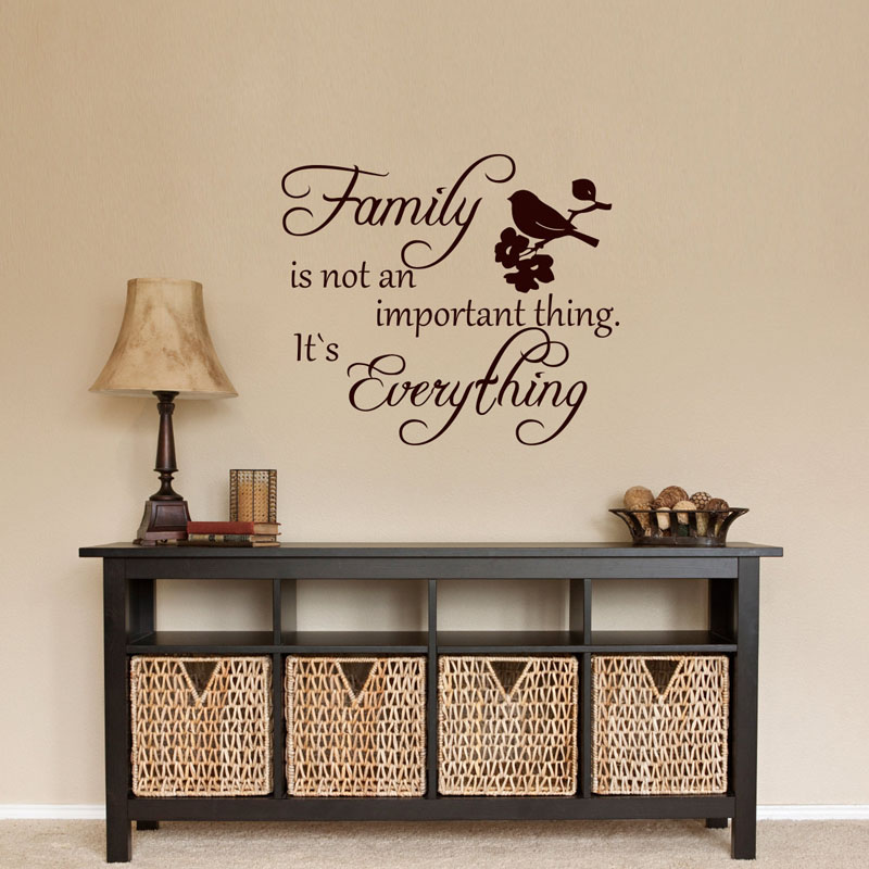 Dctop Family Is Not An Important Thing It S Everything Home Decor Vintage Style Wall Decals Vinyl