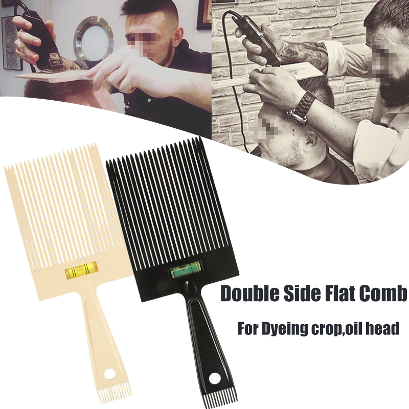 Wide Tooth Flat Comb Dyeing Coloring Brush Flat Crew Cut Cropped Hair Style Hairbrush With Balance Oil Salon Hairdressers Tool balance