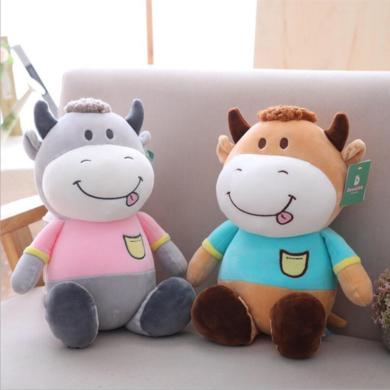 New Style Lovely Small Cow Plush Toy Stuffed Animal Doll Children Birthday Gift