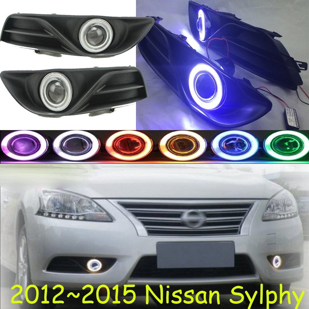Sylphy fog light 2012~2015 Free ship!Sylphy daytime light,2ps/set+wire ON/OFF:Halogen/HID XENON+Ballast,Sylphy teana fog light 2pcs set led sylphy daytime light free ship livina fog light