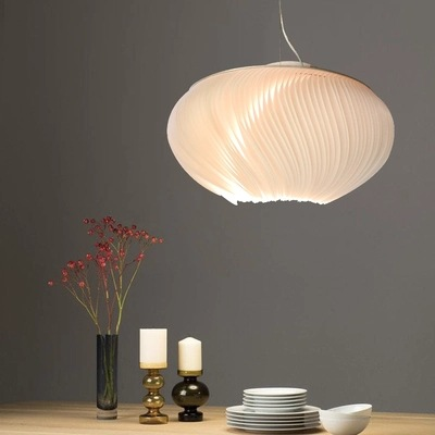 Image 3 - Nordic Modern LED creative Aluminum pendant light parchment deco pendant lamps living room lighting LED suspension luminairesPendant Lights   -