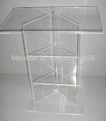Preekstoel furnitureFree Bezorging Hoge Kwaliteit Modern Design Goedkope Acryl Lecternacrylic preekstoel