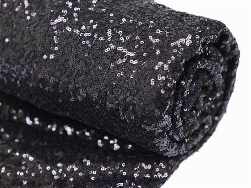 Unbeaten Wholesale 72x72 Black Sequin Tablecloth, Wedding Table Black Glitter Tablecloth Sparkly Wedding Table Decoration