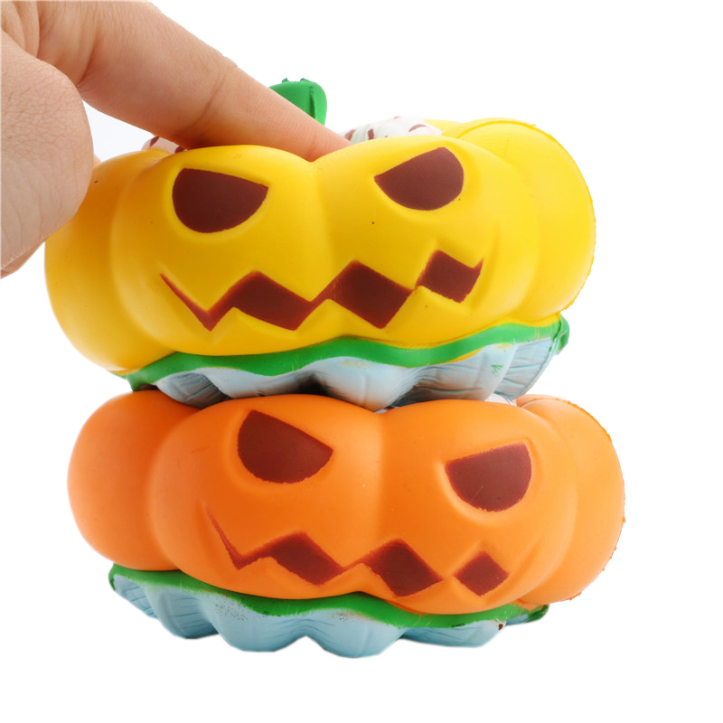 Squishy Pumpkin Toys Soft Slow Rising Halloween Gift Squeeze Stress Relief Ice Cream Scented Toys For Children Boys Girls Fun