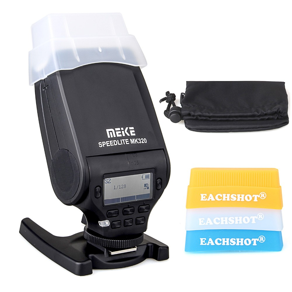 MEIKE MK-320 TTL Flash Speedlite for Leica X2 M S X D-lux6 M-E M10 V-LUX4  For Nikon Canon 3 version flash + 3 color filter meike mk320 mk 320 gn32 ttl flash speedlite for fujifilm hot shoe x e2 x e1 x pro1 x pro2 x m1 x a3 x a2 x a1 xt1 x100t as ef 20