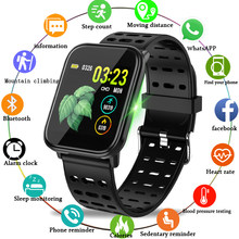 LIGE smart sport watch waterproof watch blood pressure heart rate monitoring HD full touch screen Smart bracelet for Android ios(China)