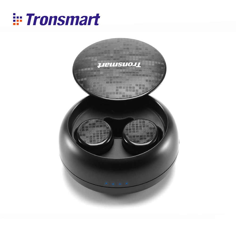 Tronsmart Encore Spunky Buds słuchawki Bluetooth bezprzewodowe słuchawki prawdziwe bezprzewodowe słuchawki stereo IPX5 z mikrofonem do telefonów