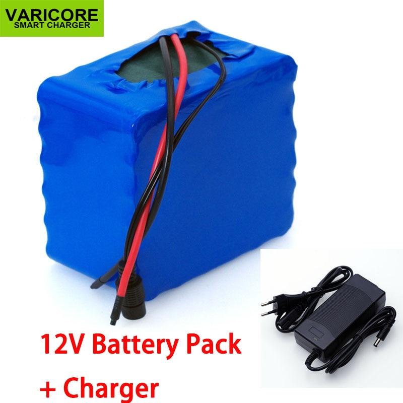 VariCore 12V 30Ah 3S12P 11.1V 12.6V High-power Lithium Battery Pack For Inverter Xenon Lamp Solar Street +12.6V 3A Charger