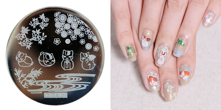 Hehe 2016 New Stamping Plate Hehe23 Cute Lazy Cat Bamboo