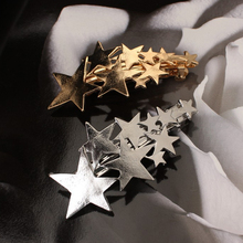Star Hair Clip Barrettes Hairpin Bobby Pin Jewelry Accessory for Women Lady Girls Gold/ Silver color