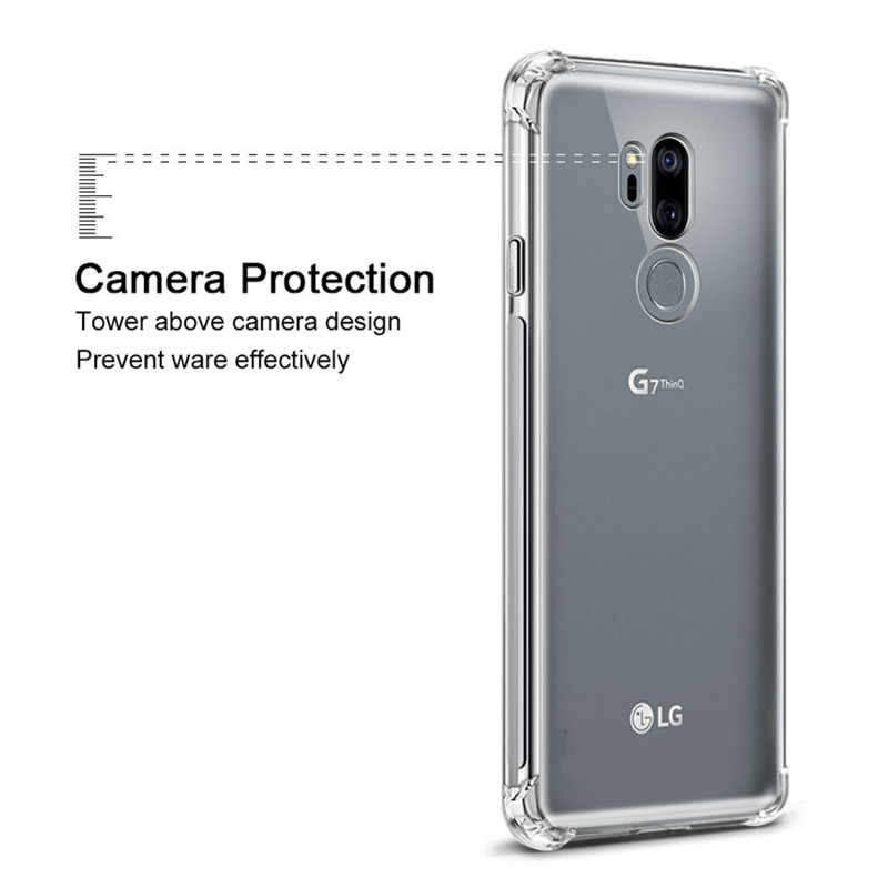 the best attitude bf103 dd29f Airbag Drop Protection Soft TPU Case For LG Stylo 3 4 Aristo 2 Clear Case  For LG G7 ThinQ Fit Q6 K11 Q8 Q9 Q Stylus Plus Cover