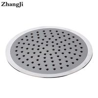 ZhangJi 8 Inch Big Waterfall Showerhead Silica Gel Holes Water Saving Shower Sprayer Electroplated 20cm Round