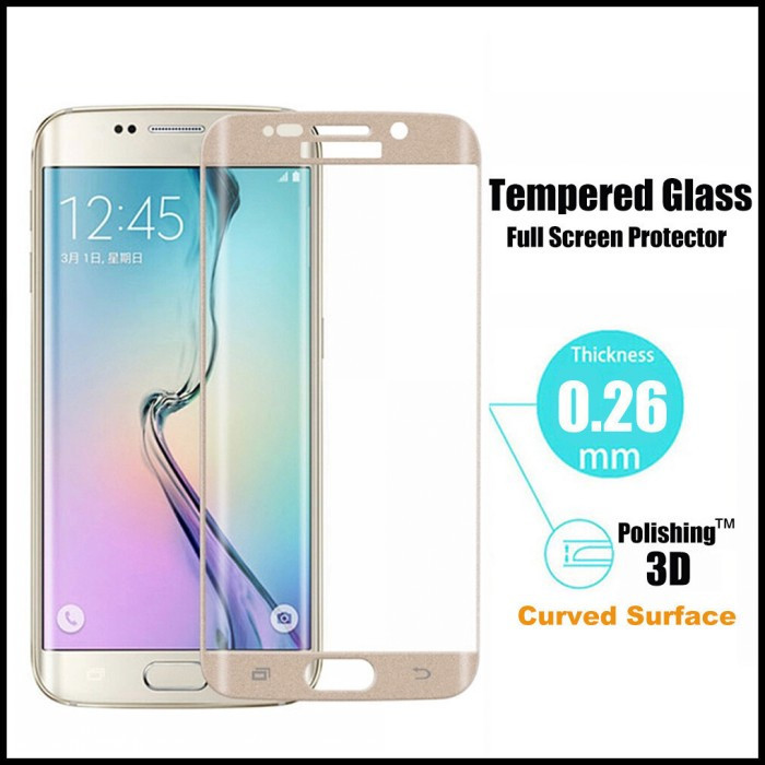 Full Coverage Protection With Imension Rounded Cover For Galaxy S6s Creen Protector Edge To