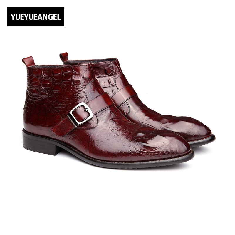 Men Shoes 2017 New Hot Sale Comfort Grenuine Leather For Men Breathable Dress Wedding Shoes Boots Buckle Side Zipper Brown Black kelme 2016 new children sport running shoes football boots synthetic leather broken nail kids skid wearable shoes breathable 49