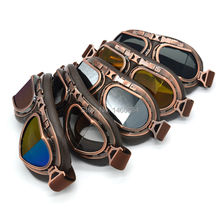 Copper Motorcycle Motocross Cycling Goggles Helmet Vintage Pilot Aviator Goggles Outdoor Sports Eyewear