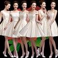 2016 новое слово плечо платье невесты короткий параграф весной и летом платье невесты Миссия Сестры юбка банкетный женщины