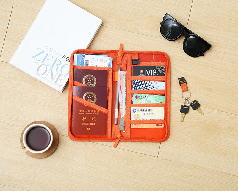 Travel Passport Cover Multifunction Wallet Document Organizer Cover Men Women Business ID Card Holder Case Wrist Strap PC0047 (5)