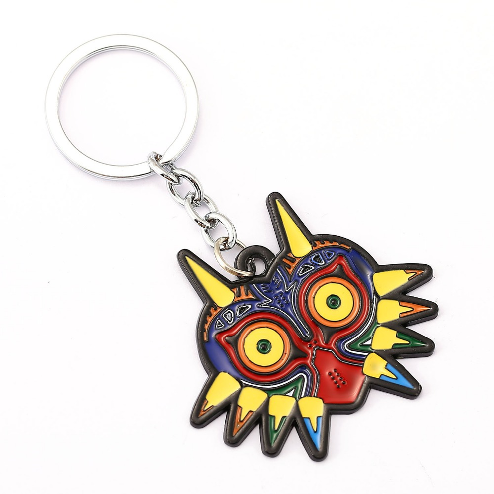 The Legend of Zelda Key Chain Majoras Mask Key Rings For Gift Chaveiro Car Keychain Jewelry Game Key Holder Souvenir YS11498
