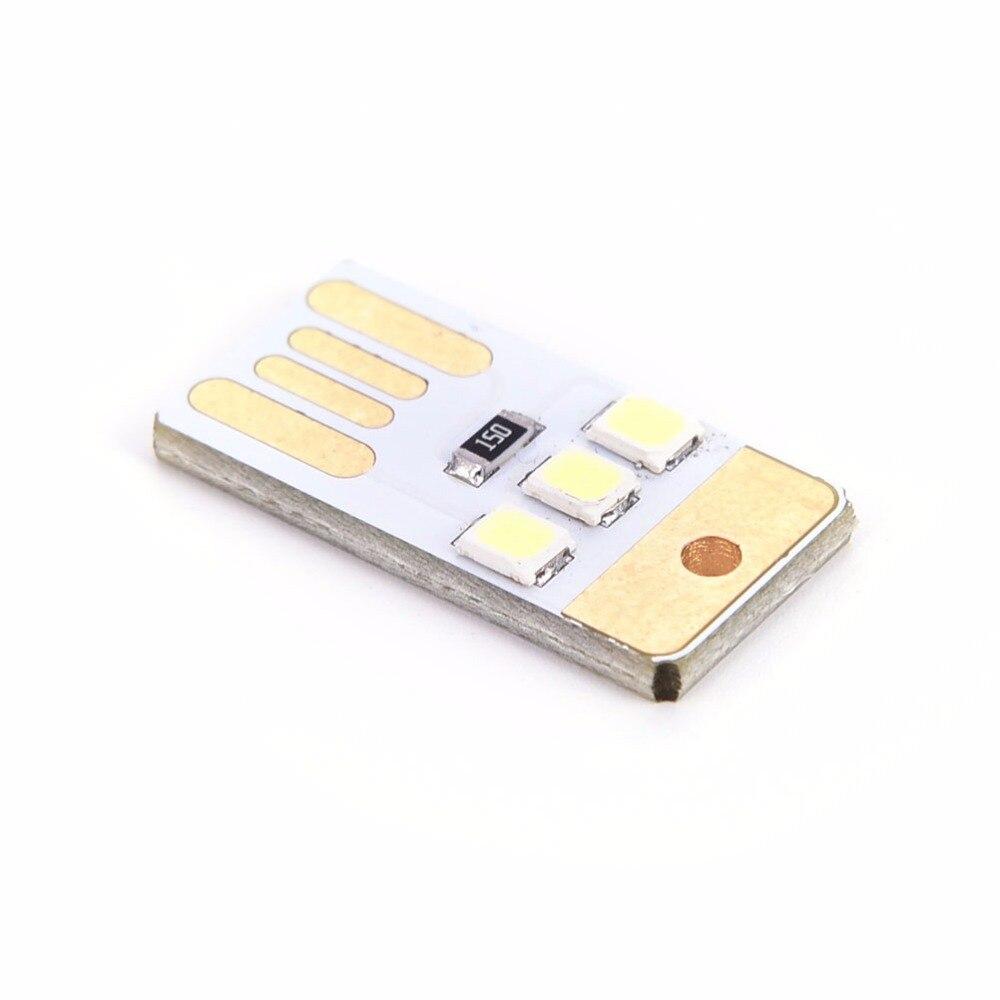 Mini Portable LED Light Usb Power Led Light 3 Led Touch Dimmer Lamp White Laptop