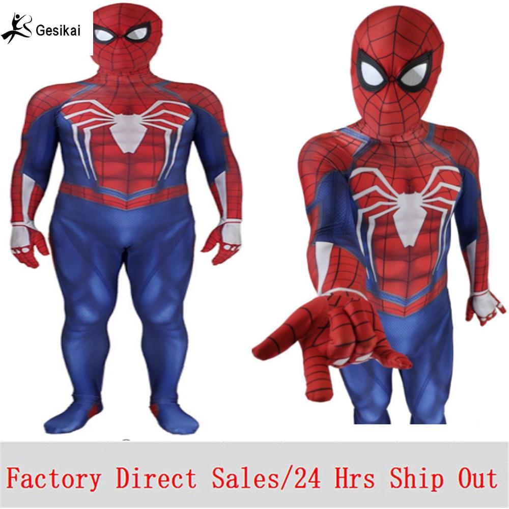 24 stunden Versand Out Herren Amazing Spider-man Film Klassische Kostüm Spandex Lycra Zentai Anzug Body für Halloween Party