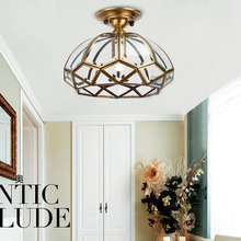 Buy traditional ceiling light and get free shipping on aliexpress classical copper chain bathroom ceiling light traditional hallway gallery mozeypictures Image collections