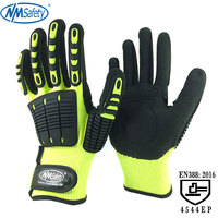 NMSafety 2 пары анти вибрация и удар защитные перчатки высокая видимость противоударный механика рабочие перчатки