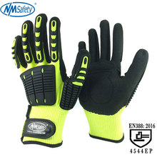 NMSafety 2 Pairs Hi-Viz Anti Vibration and Shock Safety Glove High-visibility Anti Impact Resistant Mechanics Work Glove nmsafety anti vibration oil safety glove shock absorbing mechanics impact resistant work glove