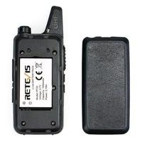 מכשיר הקשר 2pcs מיני מכשיר הקשר Retevis RT22 2W UHF 400-480MHz VOX סריקה CTCSS / DCS מכסים נגד אבק Ham Radio Hf משדר Handy 2 רדיו דרך (5)