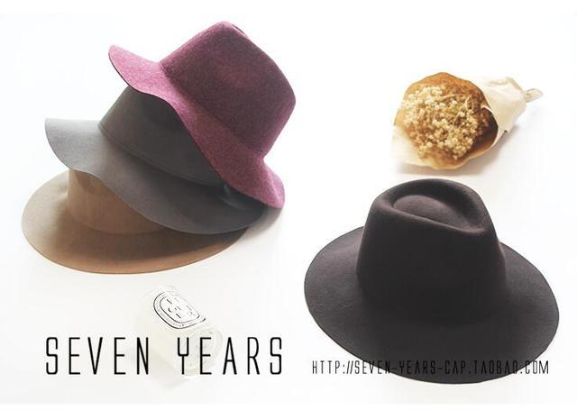 b58f40fe5b9 fashionable top Star black hat Pure Wool wide brim Spring felt fedoras  winter hats for women