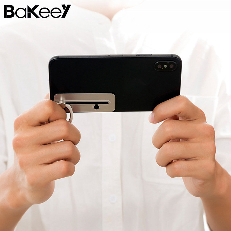 Bakeey Games Slidable Detachable 360 Degree Rotation Finger Ring Phone Holder Stand for Mobile Phone