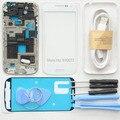 Для Galaxy S4 mini i9190 i9195 Полный Дело Корпус Рамка шасси Замена Задней Стороны Обложки + Передняя Стеклянный Экран + Repair Tool комплекты
