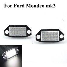 2 Pz 24SMD No Error LED Numero Della Targa Della Lampada Per Ford Mondeo MK3 2000-2007