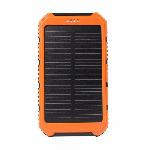 Солнечная Энергия Банк 10000 мАч Dual USB Портативный Внешний Панели Солнечных Батарей Зарядное Устройство powerbank Для всех телефонов