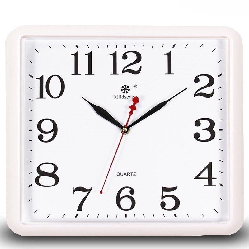 Wall Clock Living Room Simple Home Square Clock Mute Digital Wall Table Decorative Best Selling 2018 Products