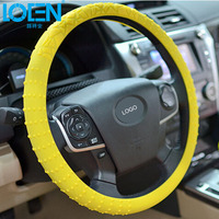 New Universal Geometric Lines Car Silicone Steering Wheel Cover Shell Anti Slip Breathable For Lada Granta