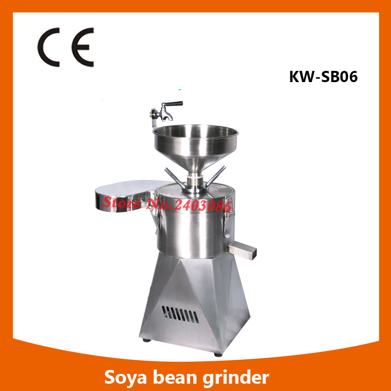 цена на Professional kitchen processing machine industrial 60kg/h electric stainless steel Soya bean grinder soy milk maker for sale