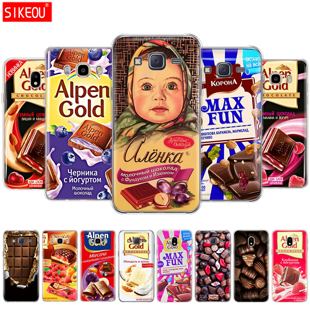 For Samsung Galaxy J2 Prime J3 J5 J7 2016 2017 J2 J1 Mini Prime Case TPU Silicone Cover alenka bar chocolate image