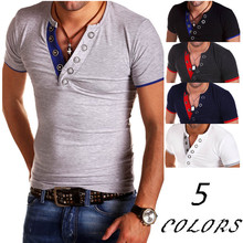ZOGAA 2019 summer new t shirt men streetwear Leisure Short sleeve cotton collar 6 colors plus size S-3XL