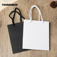 20pcs Lot White Black High Quality Simple Paper Gift Bag Kraft Paper Candy Box With Handle