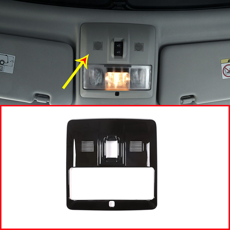 Glossy Black ABS Chrome Front Reading Light Frame Trim For Land Rover Discovery 4 LR4 2010