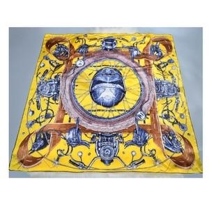 Image 5 - Nadrukowana moda 100% jedwabny szal kobiety duży kwadratowy jedwabny szal szal okłady peleryna luksusowe ręcznie walcowane 106cm kobiece prezenty