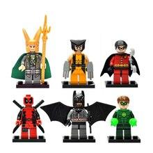 6PCS/lot Marvel super heros Original Blocks Action toy Figures Decool 6 style Model Building blocks sets gift for boy kids toys