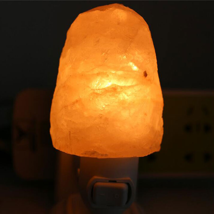 illumilite Salt lamp table lamp light bedroom adornment night light the head of bed Natural ...