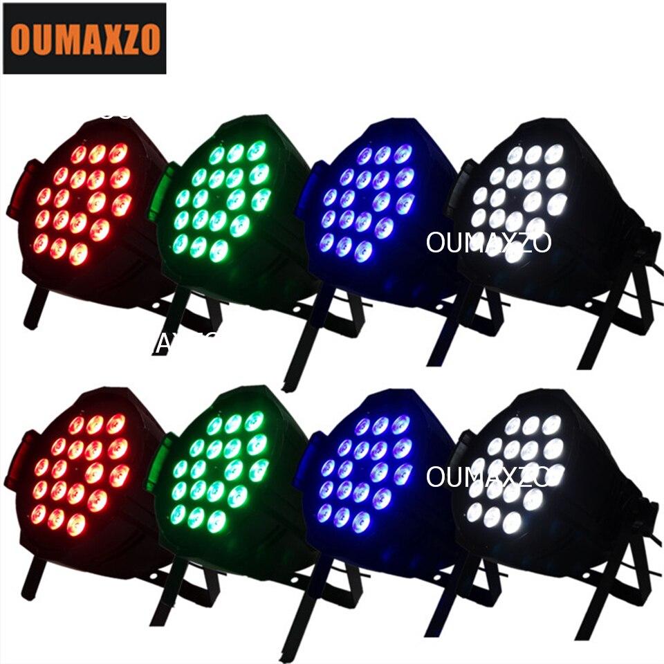 8pcs/lot 18pcs 12W RGBW 4in1 Aluminum led flat par 18pcs 4in1 ed par light cheap led stage light 18*12W RGBW/A led par