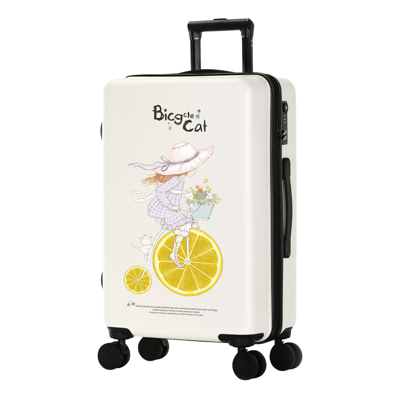 GraspDream Cute Cartoon Student Rolling Luggage Spinner Children Trolley Suitcase Wheels Kids Carry On Travel Bag