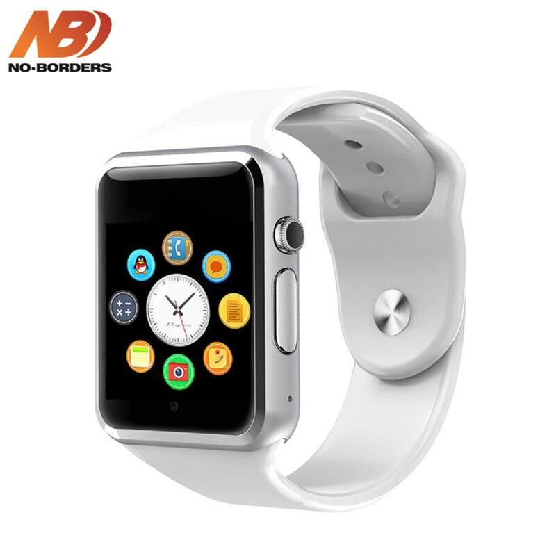 A1 relógio de Pulso Bluetooth Relógio Inteligente Pedômetro Esporte Com Câmera SIM Smartwatch com Caixa de Presente para o iPhone Android PK IWO 8 relógio