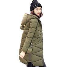 2017 jaqueta feminina inverno с капюшоном модная зимняя одежда куртка Женские однотонные Осенние Теплые женские пальто парка с хлопковой подкладкой