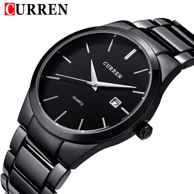 2016 new fashion Curren brand design business calender men male clock casual stainless steel luxury wrist quartz watch gift 8106 genuine curren brand design leather military men cool fashion clock sport male gift wrist quartz business water resistant watch
