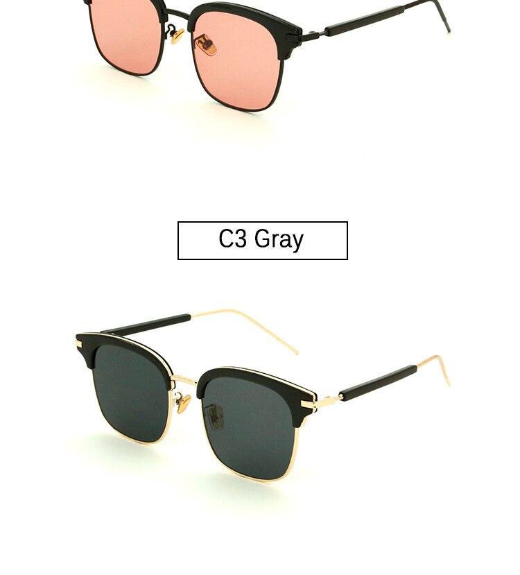 Vintage Metal Half-Rim Sunglasses Women 2018 Tidien Retro Plastic Mirror Shopping Fishing Ray Classic Sun Glasses Women 1319 (8)